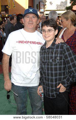 Brandon Cruz and son Lincoln at the World Premiere of