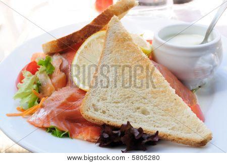 Fresh Salmon with lettuce