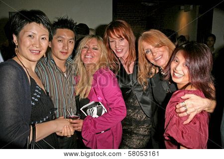 L-R Lisa Gao, Cendra Martel, Jenny McShane, Marilyn Vance and Serena Guam  at the party celebrating the opening night of the play