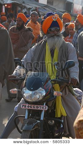 Old man with Motorcycle