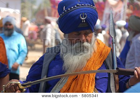 Old man with sword