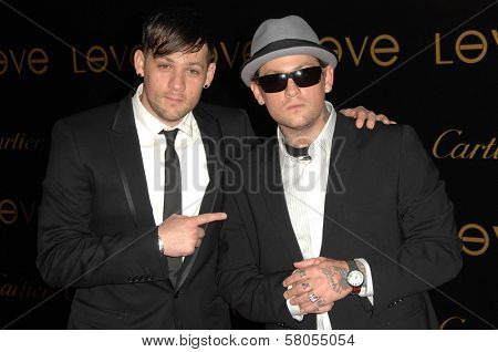 Joel Madden and Benji Madden  at Cartier's 3rd Annual Loveday Celebration. Private Residence, Bel Air, CA. 06-18-08