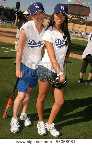 Morgan Webb and Yasmin Deliz  at The 50th Annual Hollywood Stars Game hosted by the Los Angeles Dodgers. Dodgers Stadium, Los Angeles, CA. 06-21-08
