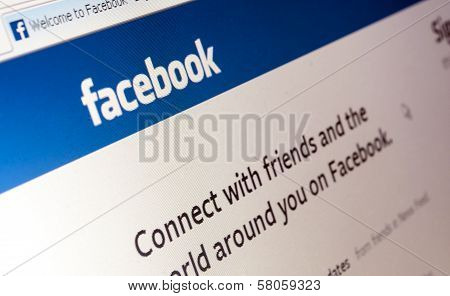 Photo Of Facebook Web Page.