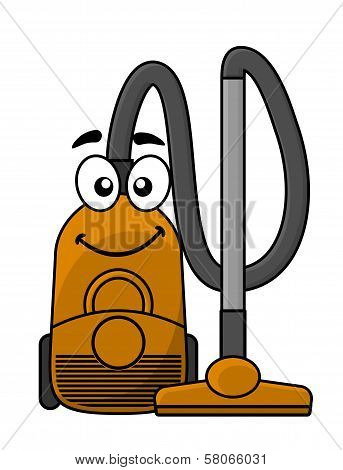 Cute cartoon vacuum cleaner