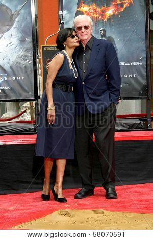Shakira Caine and Michael Caine  at the Hand and Footprint Ceremony Honoring Michael Caine. Grauman's Chinese Theater, Hollywood, CA. 07-11-08