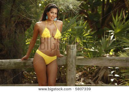 Yellow bikini