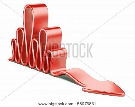 Red Wavy Concept Arrow