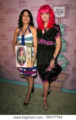 Lisa Edelstein and Tarina Tarantino  at the Pink Plastic Party of the Year celebrating the launch of the Tarina Tarantino Barbie Doll. Tarina Tarantino, Los Angeles, CA. 07-17-08