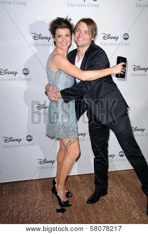 Zoe McLellan and Seth Gabel  at Disney and ABC's