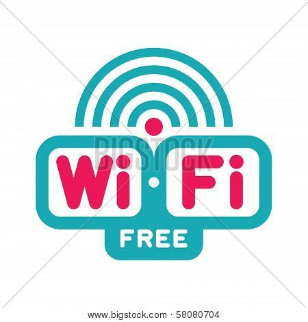 Wi-Fi Free Zone - Vector Logo Sign
