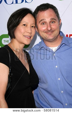 Andy Milder and wife Betty Lee  at the CBS, CW and Showtime Press Tour Stars Party, Boulevard3, Hollywood, CA. 07-18-08