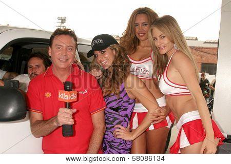 Mark Kriski and Bridgetta Tomarchio with Angelia and Meriah Nelson  at the
