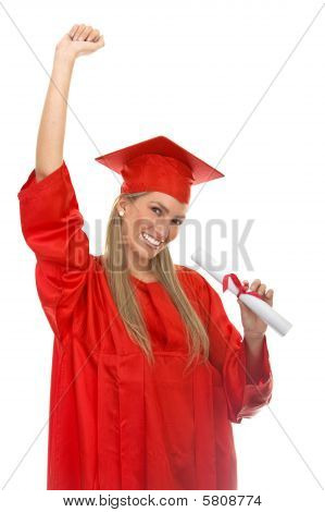 Female Graduate Isolated