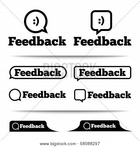 Feedback labels. Feedback tags. Feedback tab.
