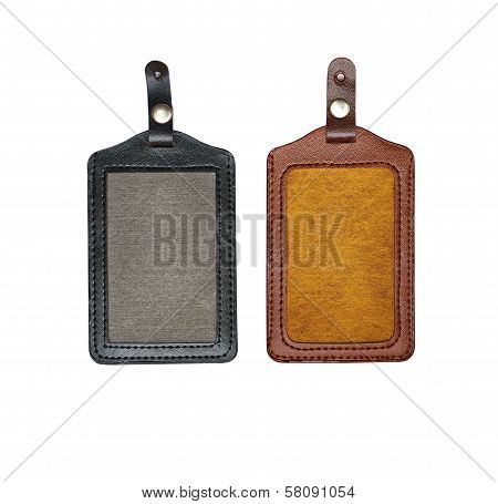 Black and brown identification cards