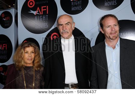Micheline Roquebrune with Sean Connery and Jason Connery  at AFI Night at the Movies presented by Target. Arclight Theater, Hollywood, CA. 10-01-08