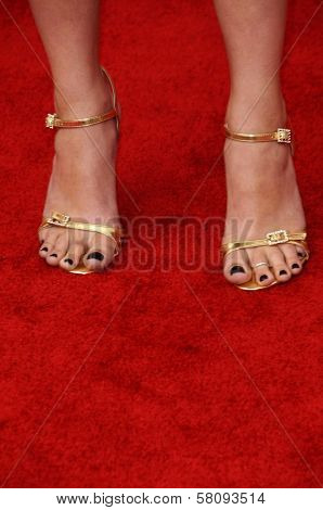 Aimee Teegarden's shoes at the 'Power Of Youth' event benefitting St. Jude. L.A. Live, Los Angele, CA. 10-04-08 at the