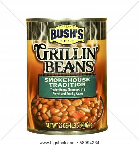Can Of Bush's Grillin Beans