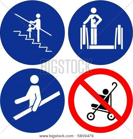 Set Of Safety Symbols..
