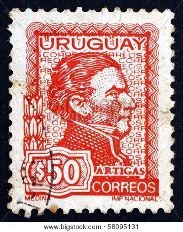 Postage Stamp Uruguay 1973 Artigas, General And Patriot