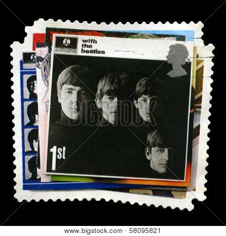 Beatles Uk Postage Stamp