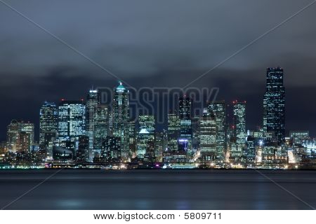 Seattle Skyline Across Water