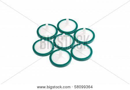 Seven Membrane Syringe Filters