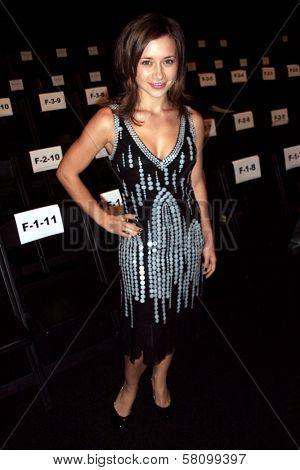 Olesya Rulin at day one of the 2007 Mercedes Benz Fashion Week. Smashbox Studios, Culver City, CA. 10-14-07