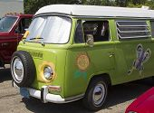 1968 Vw Hippie Camper Special Van Close Up
