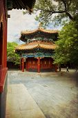 picture of lamas  - Beautiful view of the Lama temple in Beijing China - JPG
