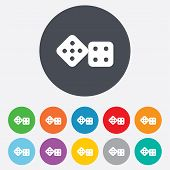 stock photo of dice  - Dices sign icon - JPG