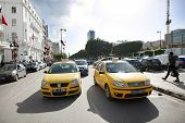 Taxicab On Avenue Habib Bourguiba