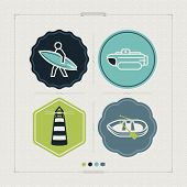 picture of pontoon boat  - 4 vector icons related to ships boats and other objects/symbols in relation to boat swimming pictured here from left to right top to bottom: 