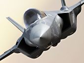 stock photo of fighter plane  - F35 - JPG