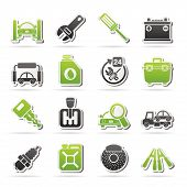 pic of truck-stop  - Car parts and services icons  - JPG