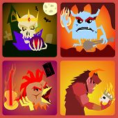 picture of hamlet  - evil Icons in flat style for web and mobile vector - JPG