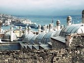 image of middle eastern culture  - Overlooking the rooftops of Istanbul and its minarets - JPG