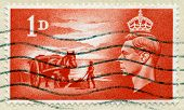 Vintage British Postage Stamp With King George Vi