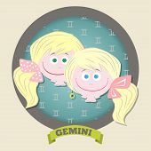 stock photo of gemini  - Zodiac signs collection - JPG