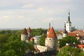 Old Town Of Tallinn In Spring poster