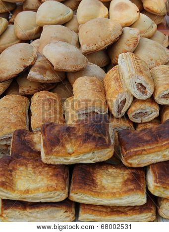 Pasties and Sausage Rolls.
