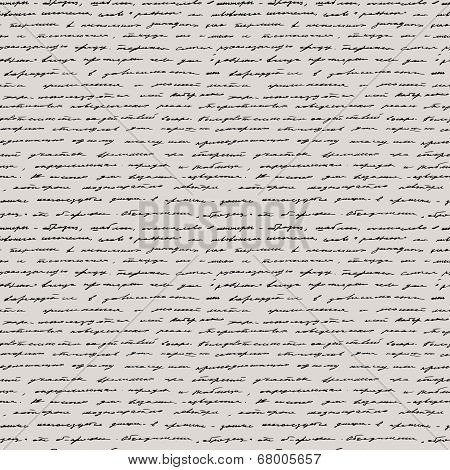 Handwriting. Seamless vector background.
