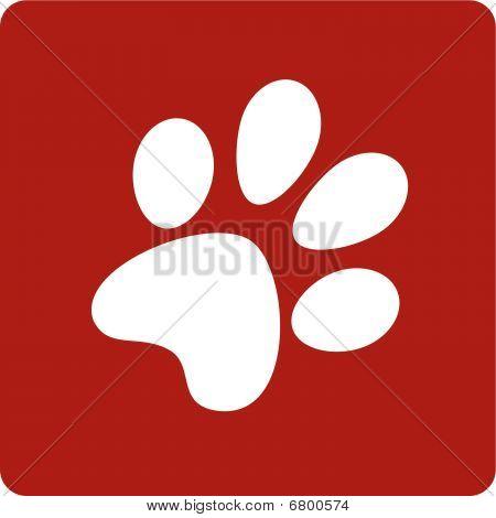 Dog Footprint.