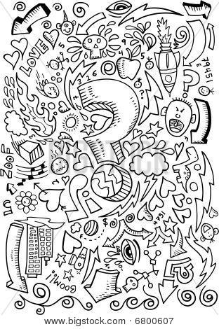 Doodle Sketch Drawing Vector