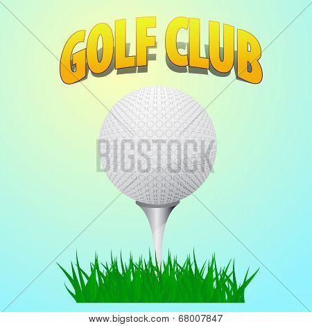 ball golf course standing on a peg