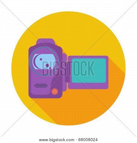 Video camera single icon.