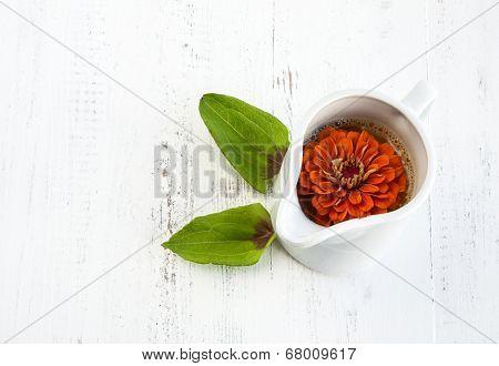 Orange Juice With Flowers