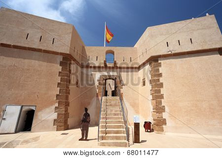 Historic Fortress In Aguilas, Spain