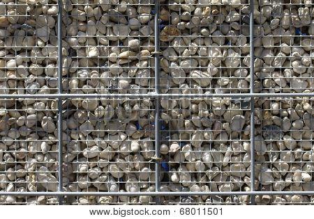 Pebble fence